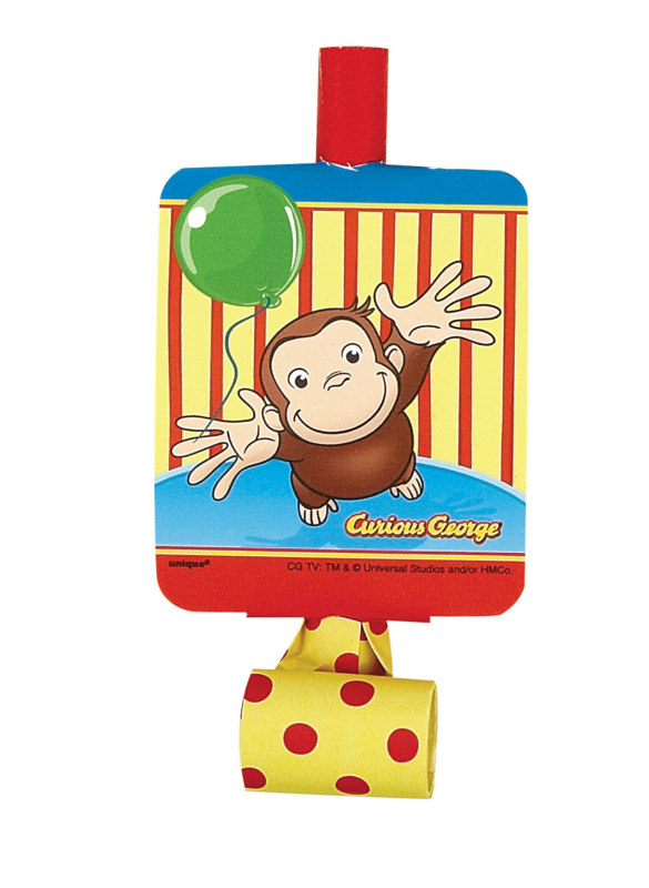 Curious George Blowouts (8 count)