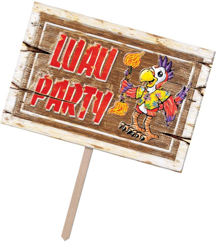 Luau Party 3D Plastic Yard Sign