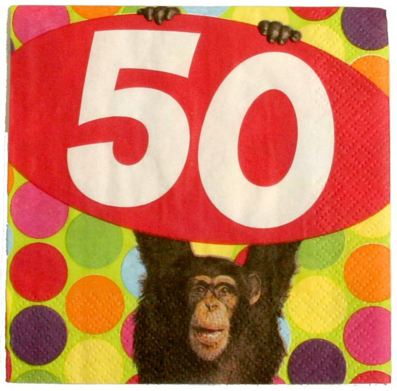 Monkey Around 50 - Beverage Napkins (16 count)