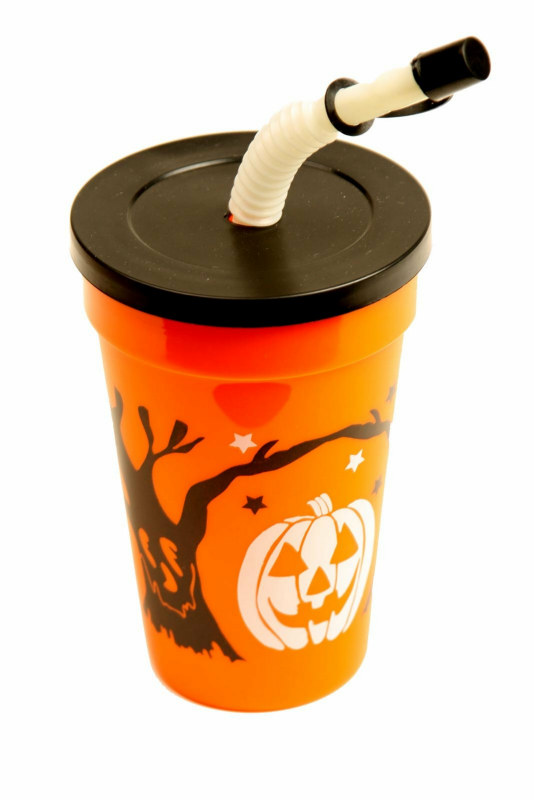 Halloween Cup with Lid & Straw (1 count)