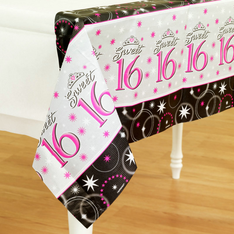 Sweet 16 Sparkle Paper Tablecover