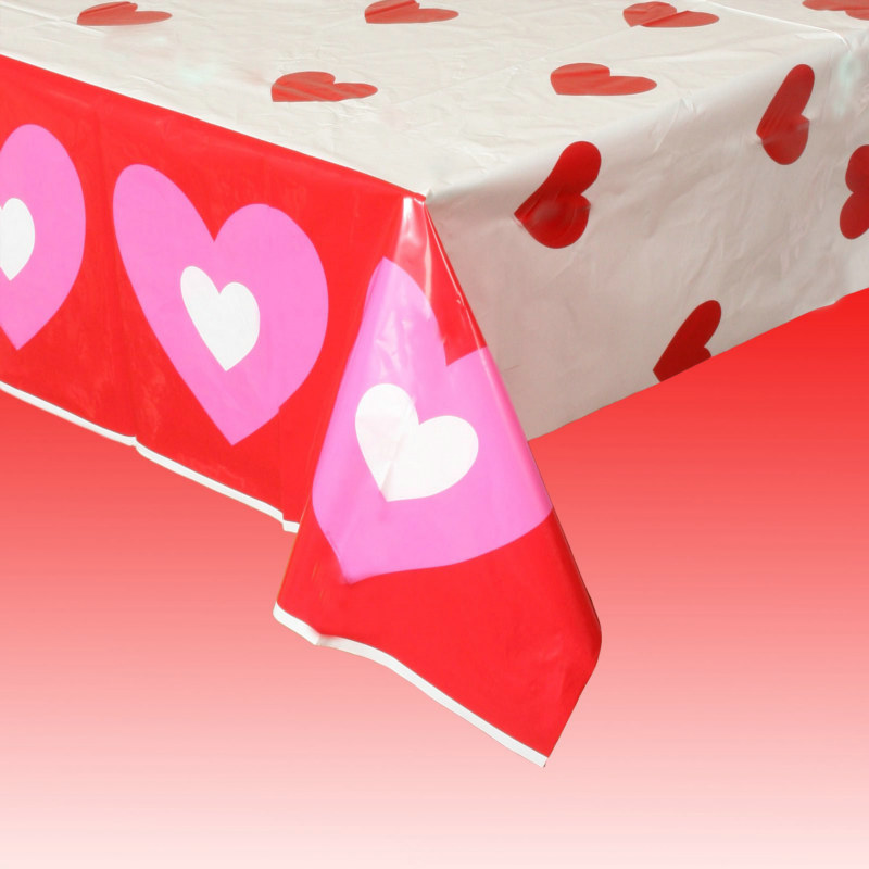 Hearts Plastic Tablecover
