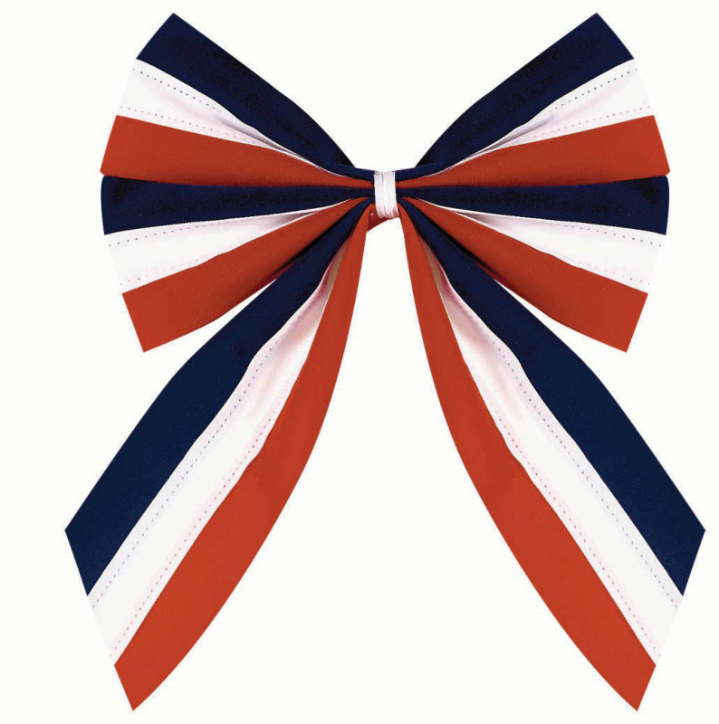 Red, White and Blue Velvet Flag Bow