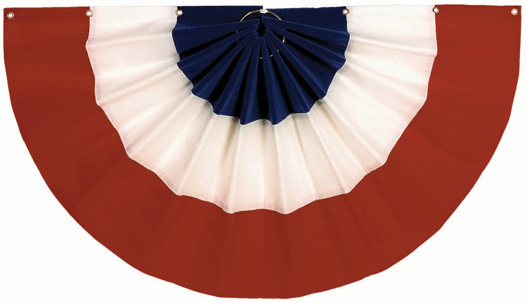 "Red, White and Blue Bunting (12"" x 24"")"