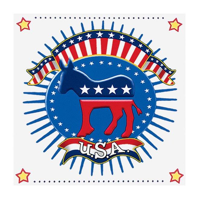 Election Time Democrat Lunch Napkins (16 count)