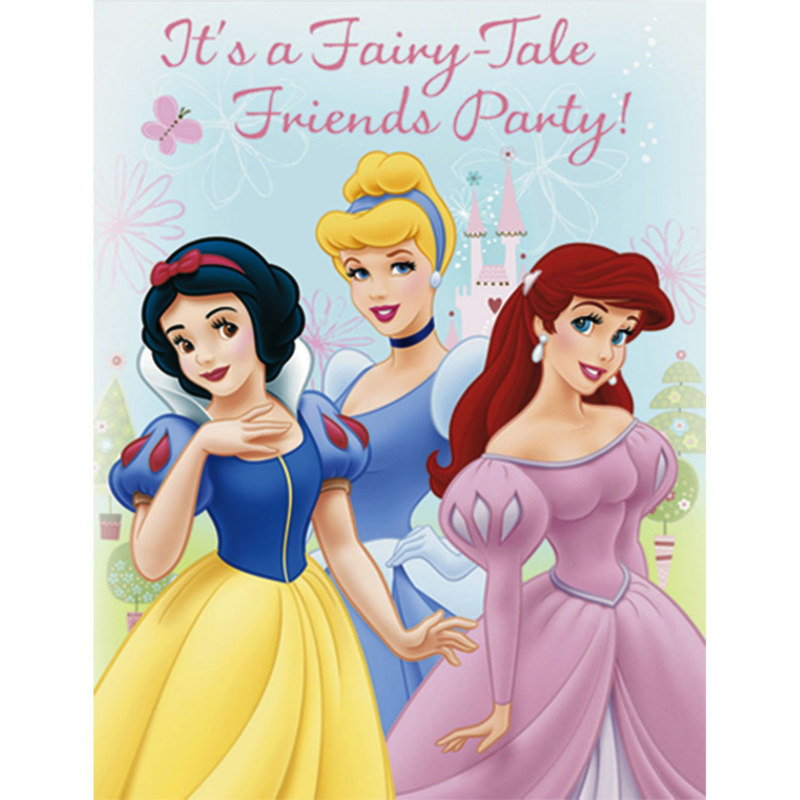 Disney's Princess Fairy Tale Friends Invitations (8 count)