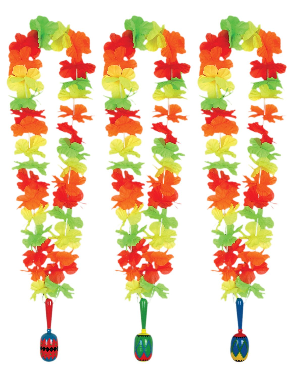 Fiesta Lei with Maraca Medallion Asst. (1 count)