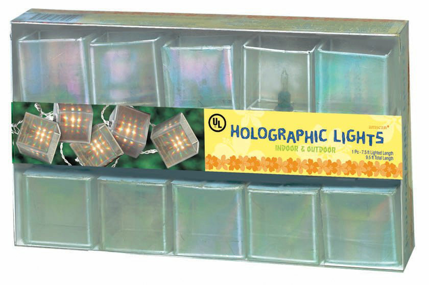 9' Holographic Square Light Set (10 lights)