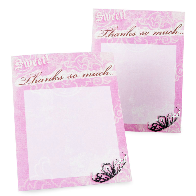 Sweet 16 Birthday Imprintable Thank You Notes (8 count)