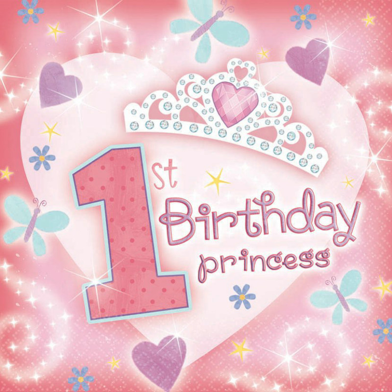 1st Birthday Princess Lunch Napkins (36 count)