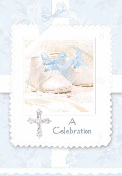 Tiny Blessing Blue Invitations (8 count)