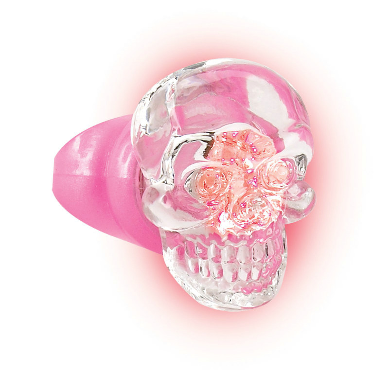 Pretty In Punk Light Up Skull Ring