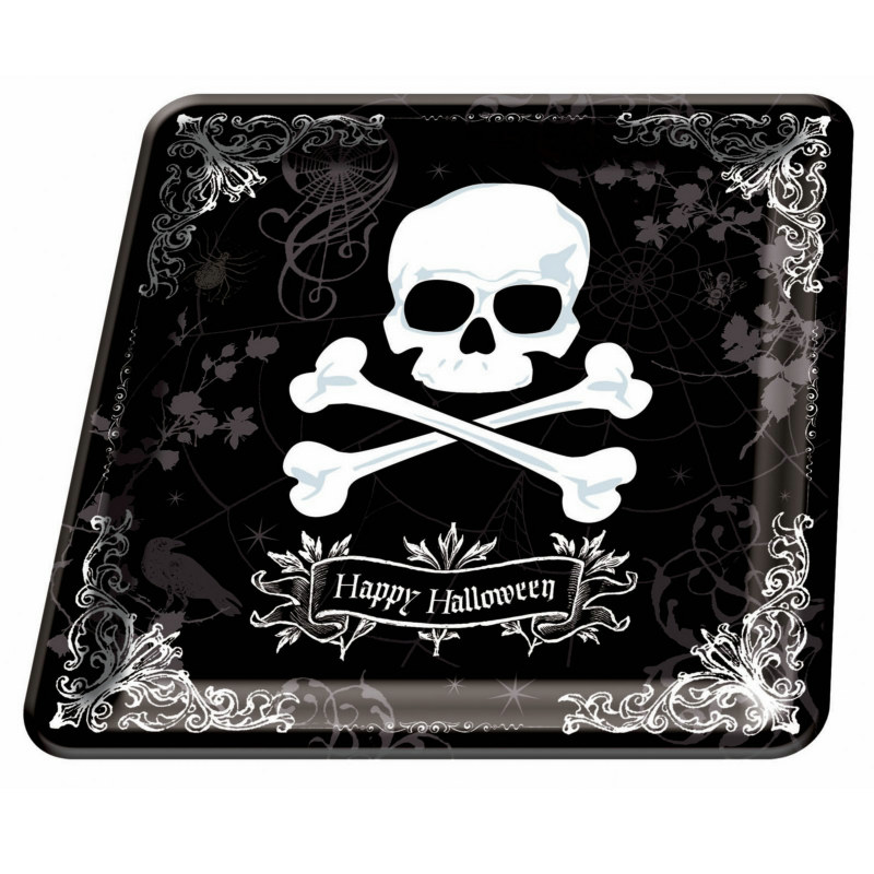 "Midnight Dreary 12"" Square Platter"