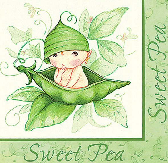 Sweet Pea Lunch Napkins (16 count)