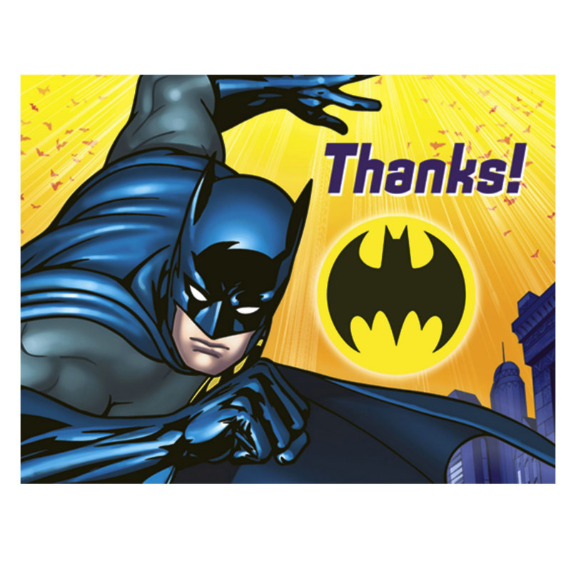 Batman The Dark Knight Thank You Cards (8 count)