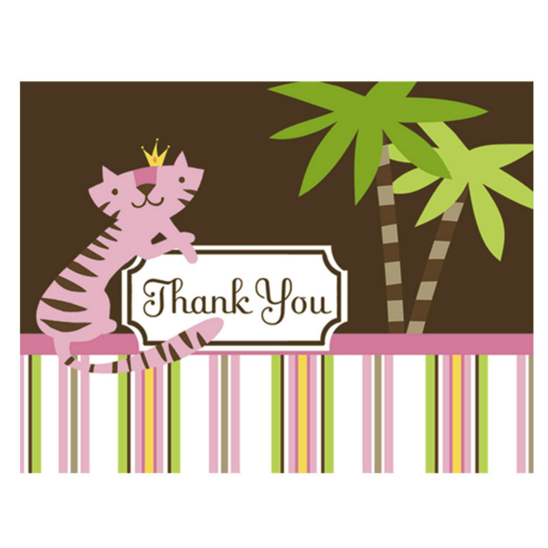 Queen of the Jungle Thank You Cards (8 count)