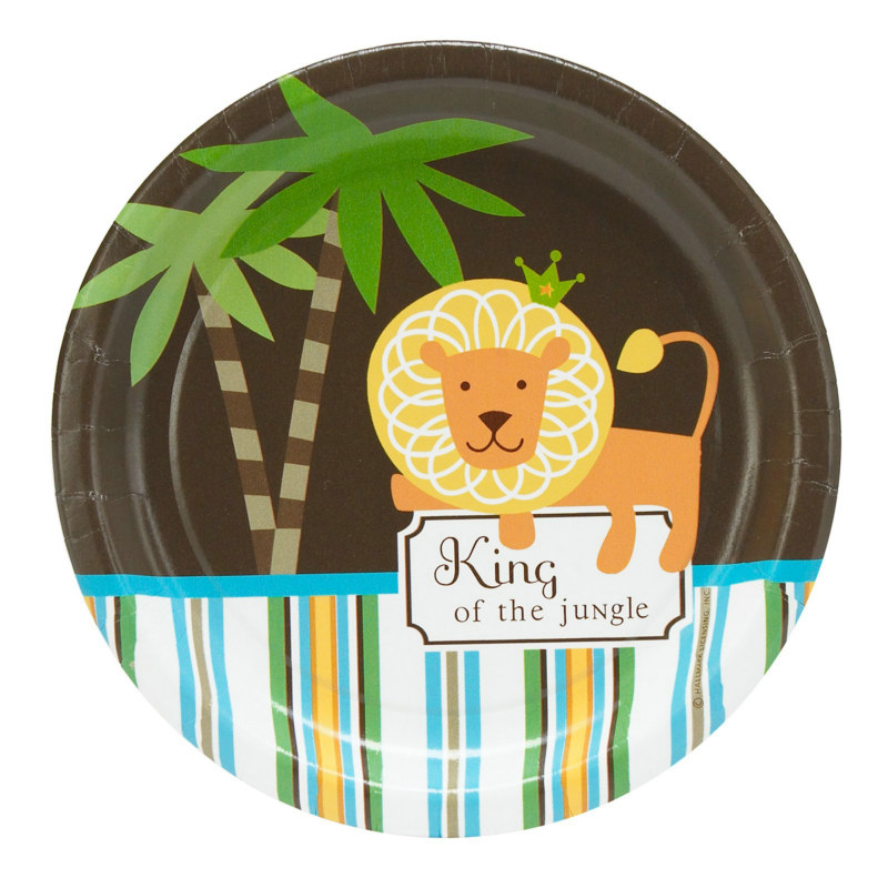 King of the Jungle Dessert Plates (8 count)