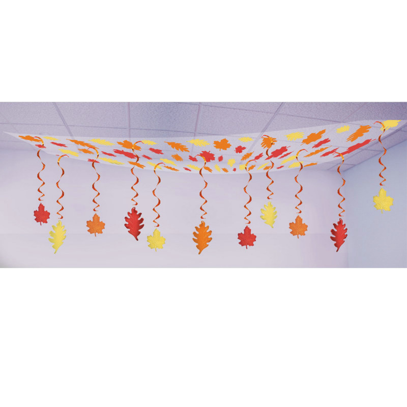 12' Fall Leaf Ceiling Decoration