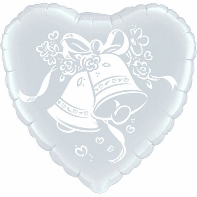 "Wedding Bells 18"" Foil Balloon"