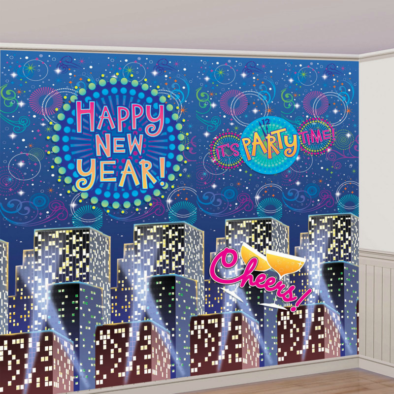New Year's Giant Decorating Scene