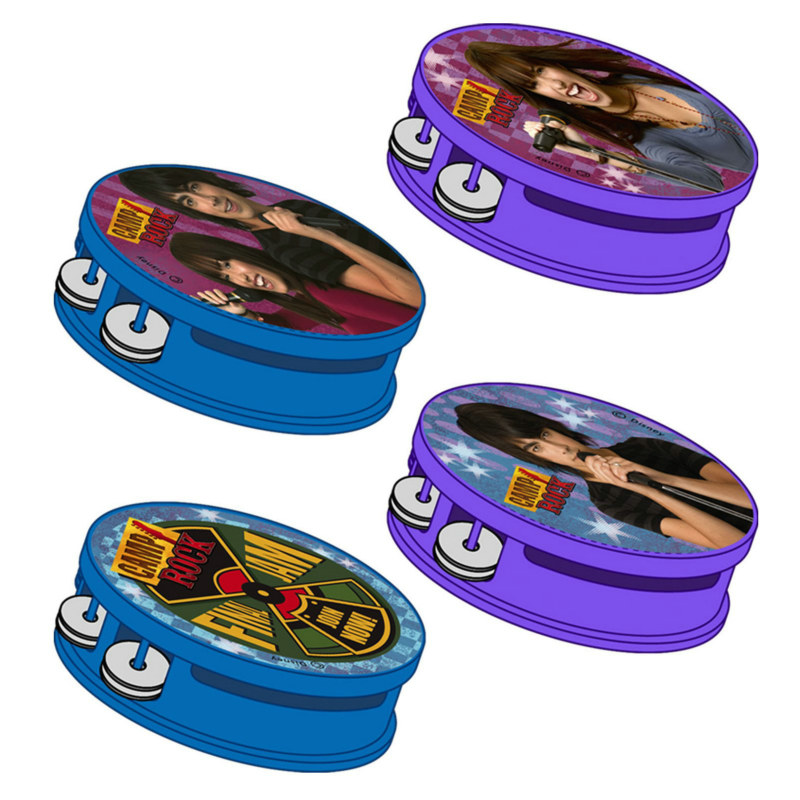Camp Rock Tambourines Assorted (4 count)