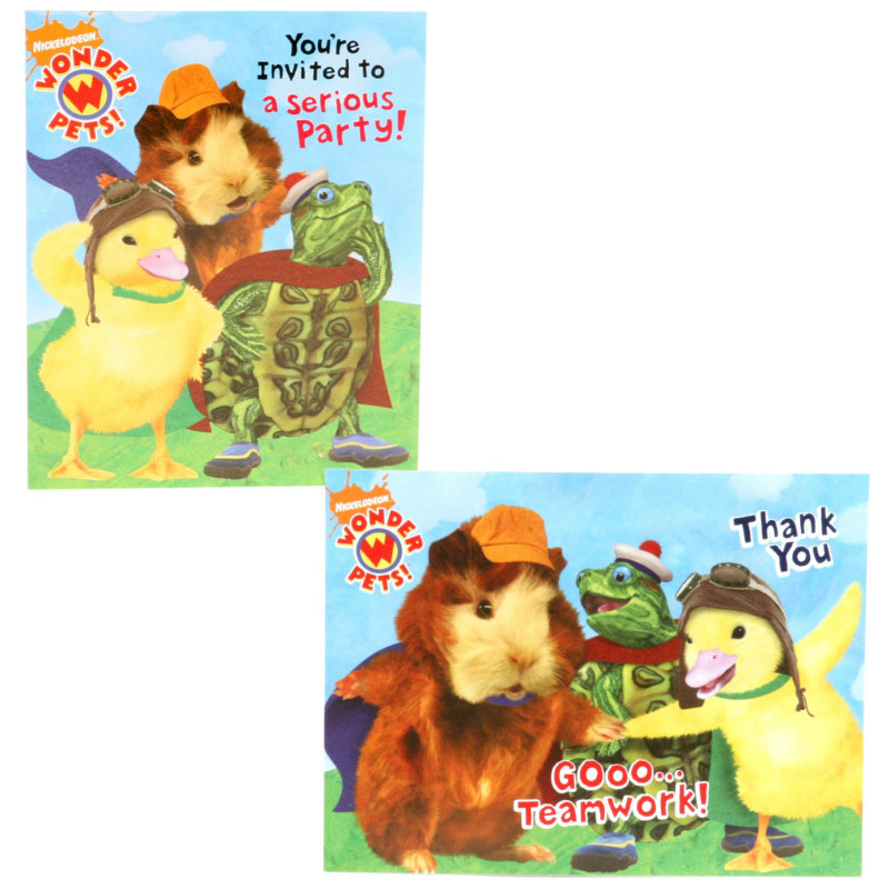 Wonder Pets Invitations and Thank-You Notes (8 each)