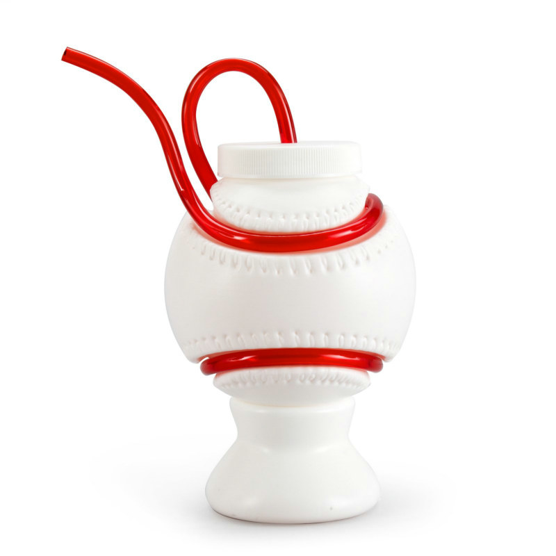 Krazy Straw Plastic Baseball Cup