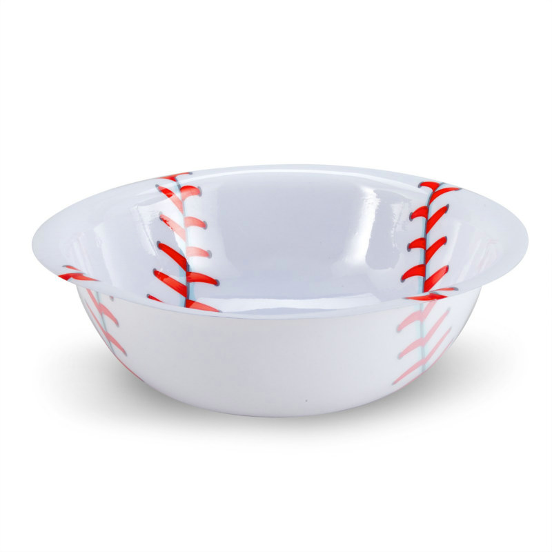 "12"" Plastic Baseball Bowl"
