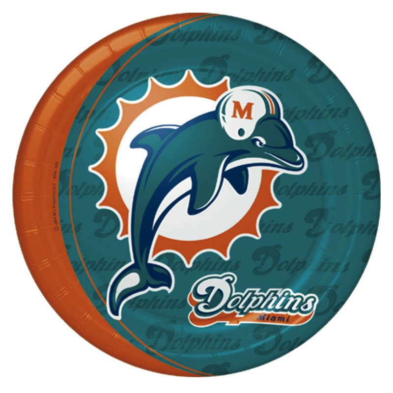 Miami Dolphins Dinner Plates (8 count)