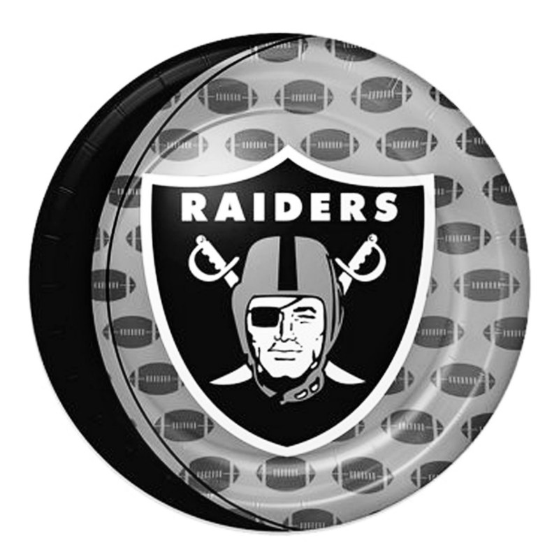 Oakland Raiders Dinner Plates (8 count)