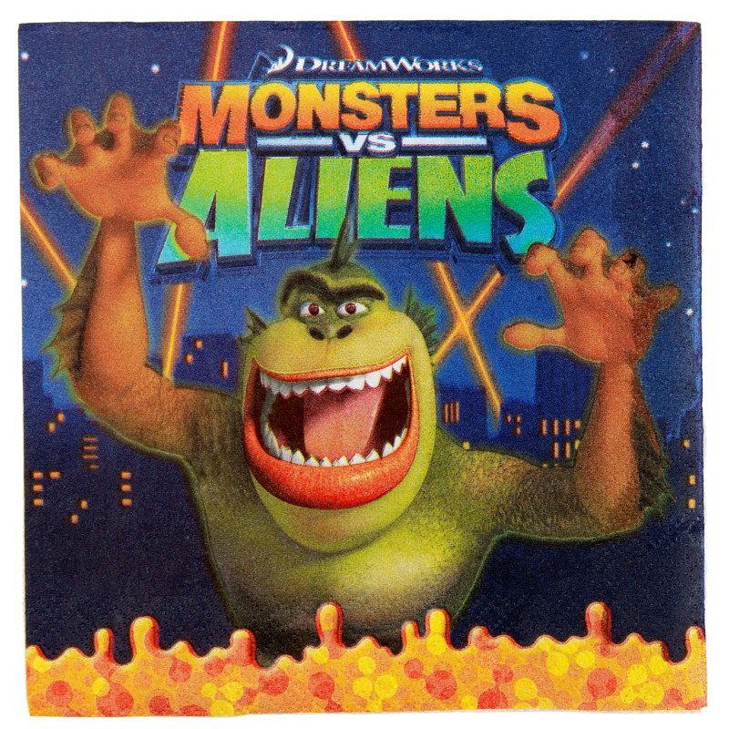 Monsters vs. Aliens Lunch Napkins (16 count)