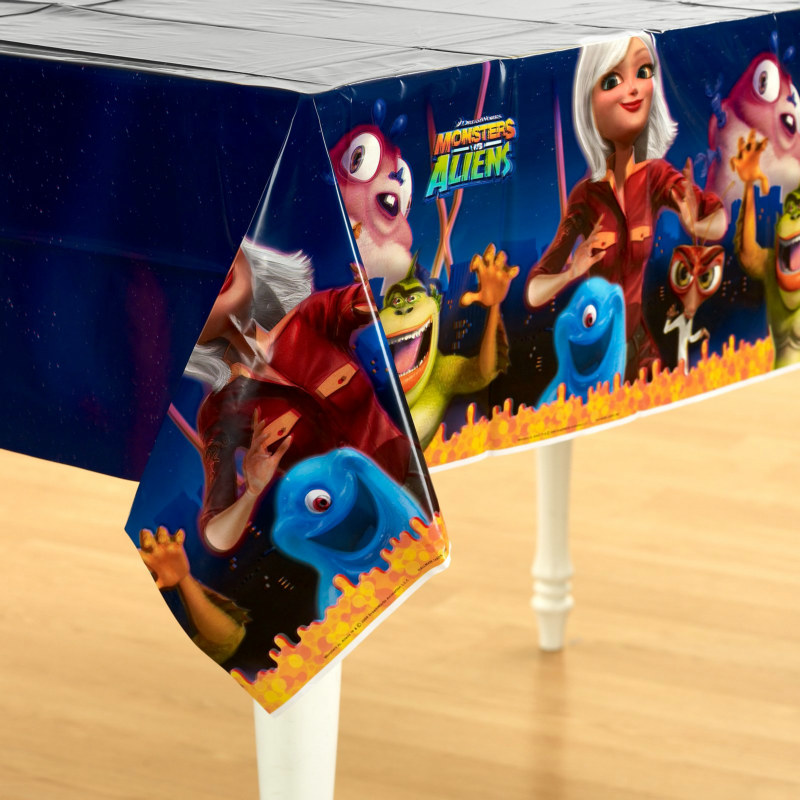 Monsters vs. Aliens Plastic Tablecover