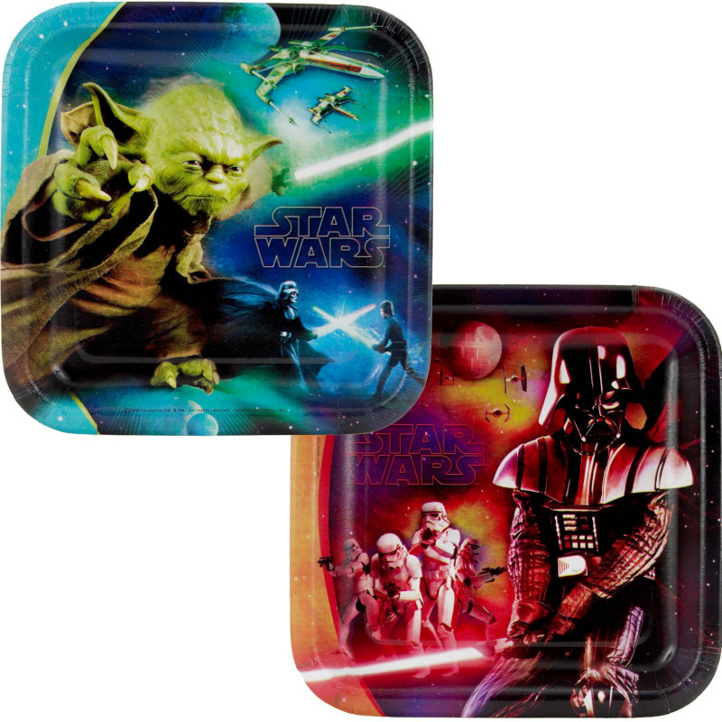 Star Wars 3D Feel the Force Square Dessert Plates Asst. (8 count