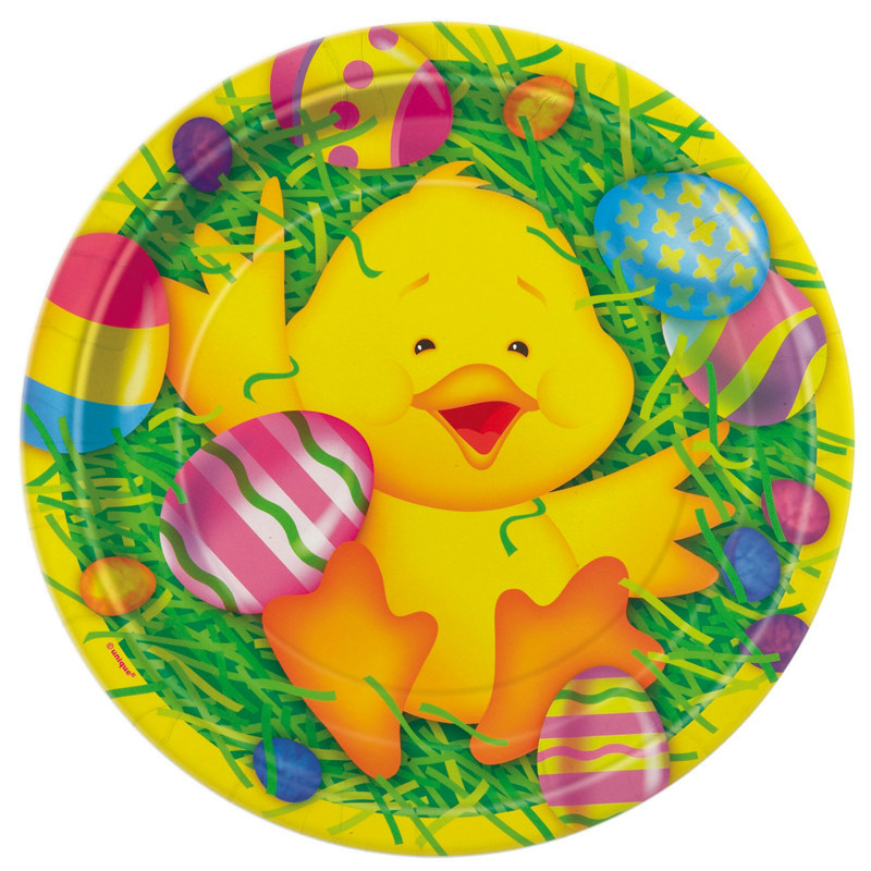 Easter Ducky Dessert Plates (8 count)