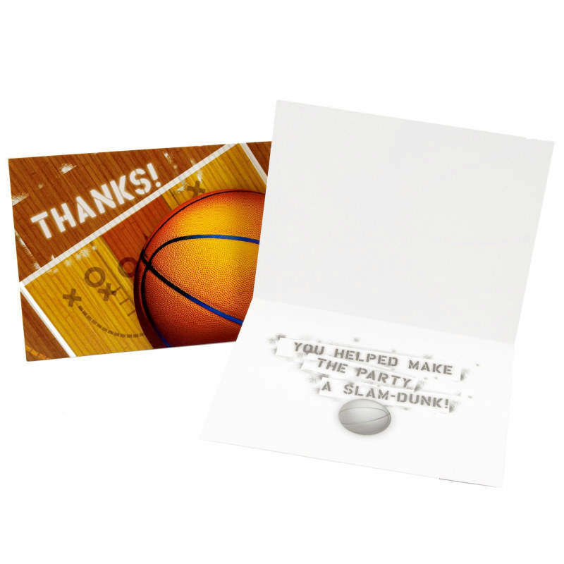 Basketball Thank You Cards (8 count)
