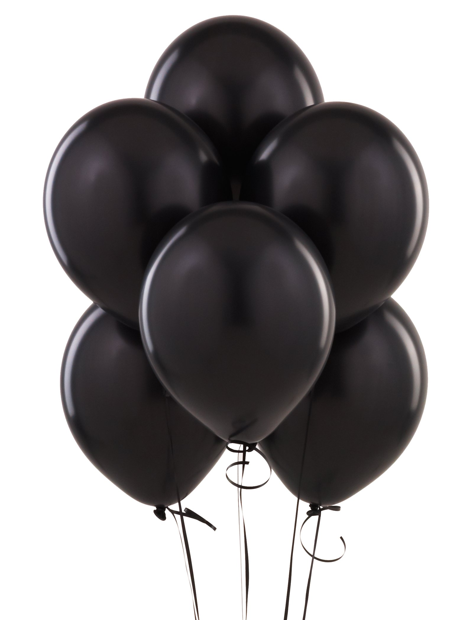 Pitch Black Latex Balloons (6 count)
