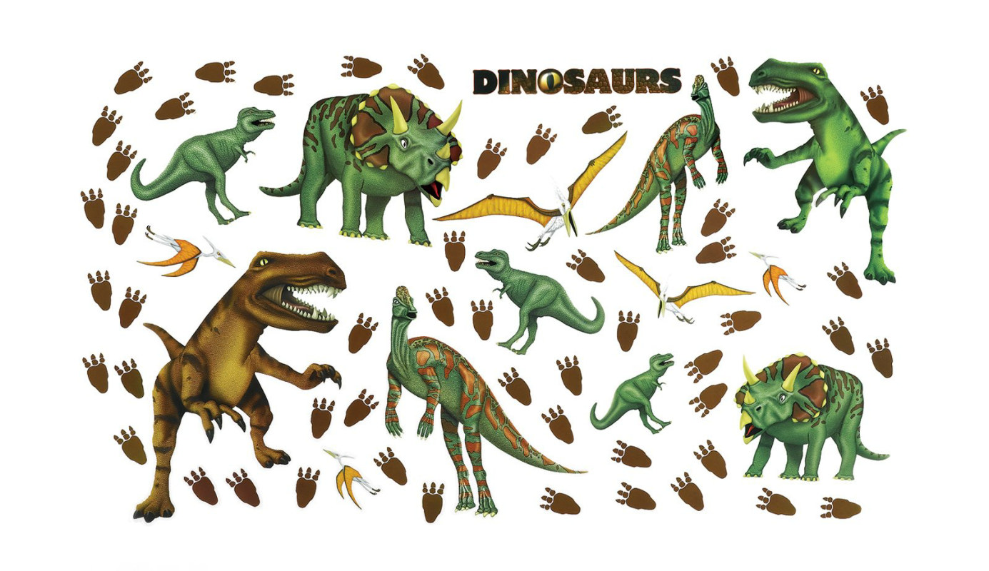 Dinosaurs Removable Wall Decorations