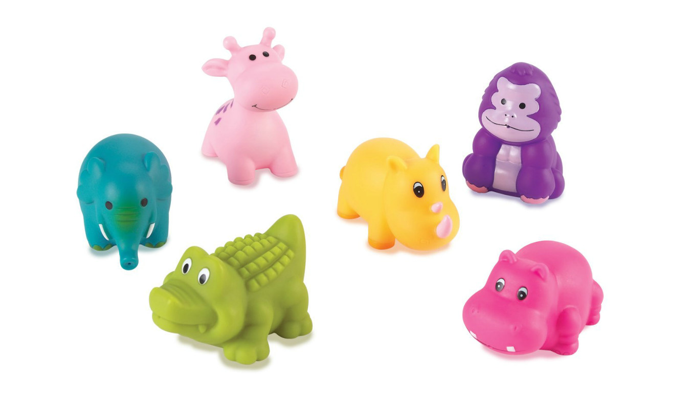 Safari Squirt Toys Assorted (6 count)