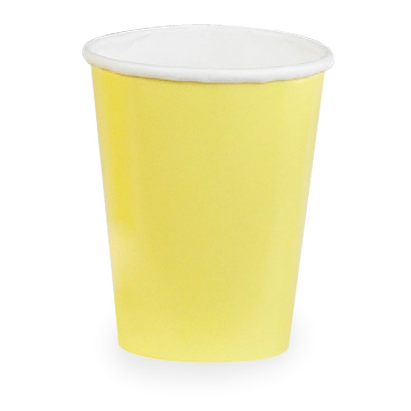 Light Yellow 9 oz. Paper Cups (24 count) - Click Image to Close
