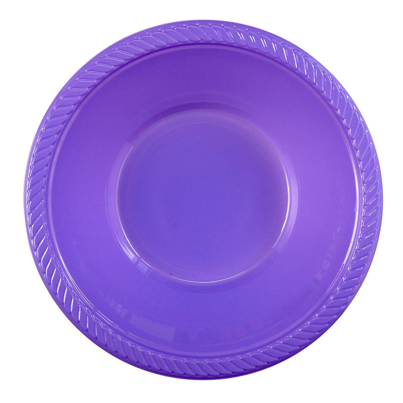 Purple Plastic Bowl (20 count)