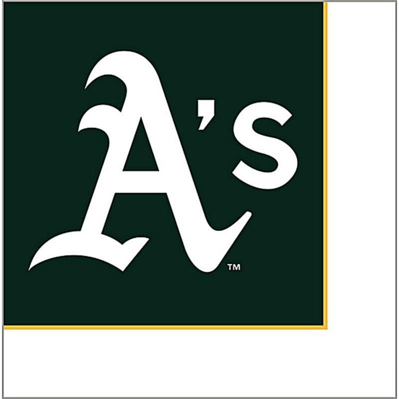 Oakland Athletics Lunch Napkins (24 count)