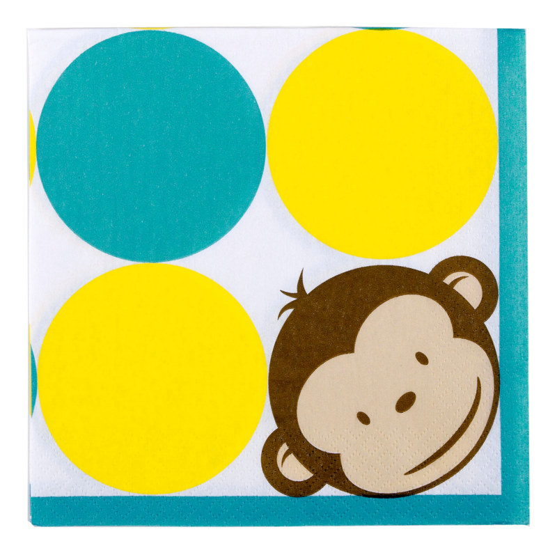 Mod Monkey Lunch Napkins (16 count)