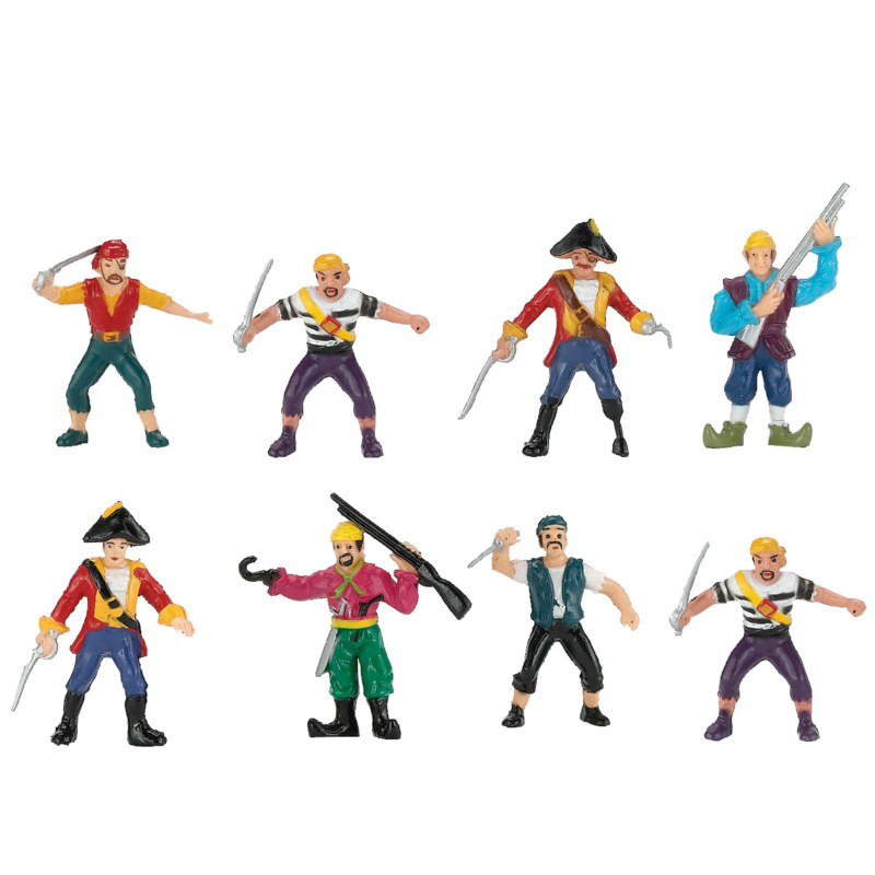 Pirate Figurine Set (8 count)