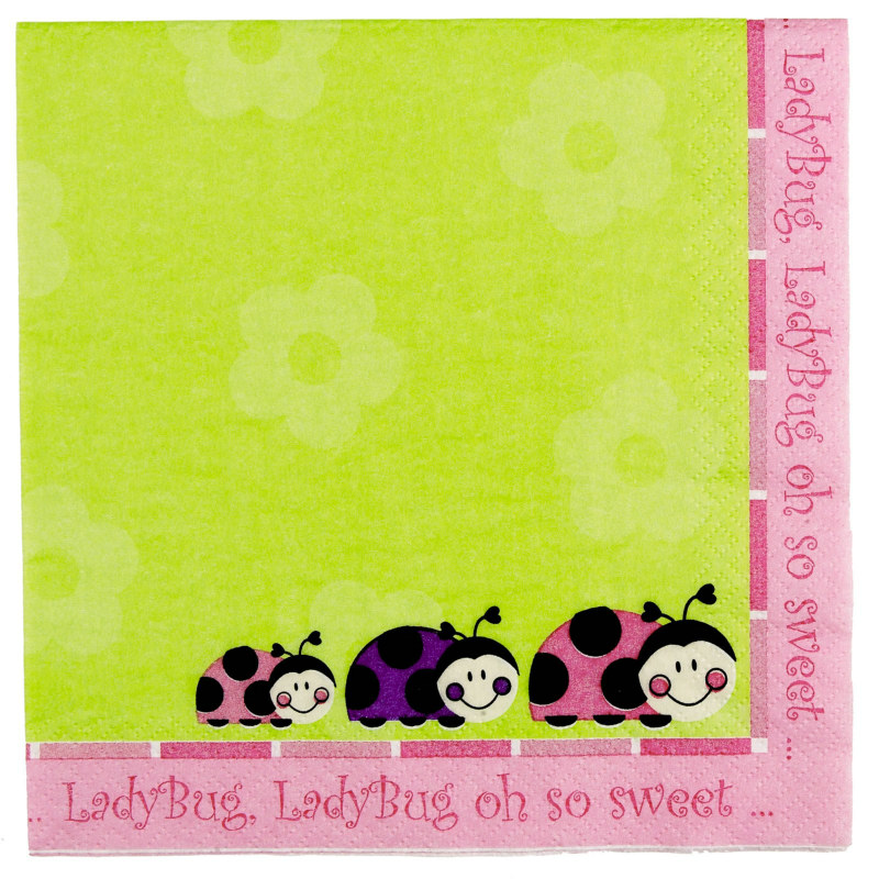 Ladybugs: Oh So Sweet Lunch Napkins (16 count)