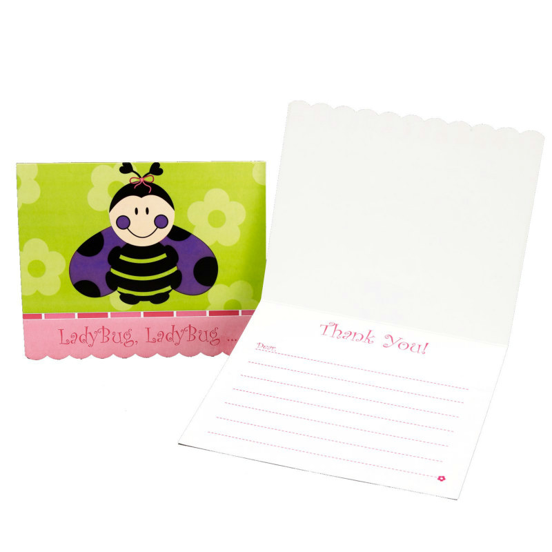 Ladybugs: Oh So Sweet Thank-You Notes