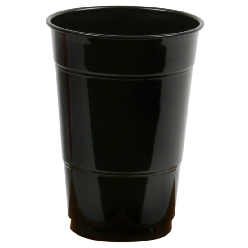 Black 16 oz. Plastic Cups (20 count)
