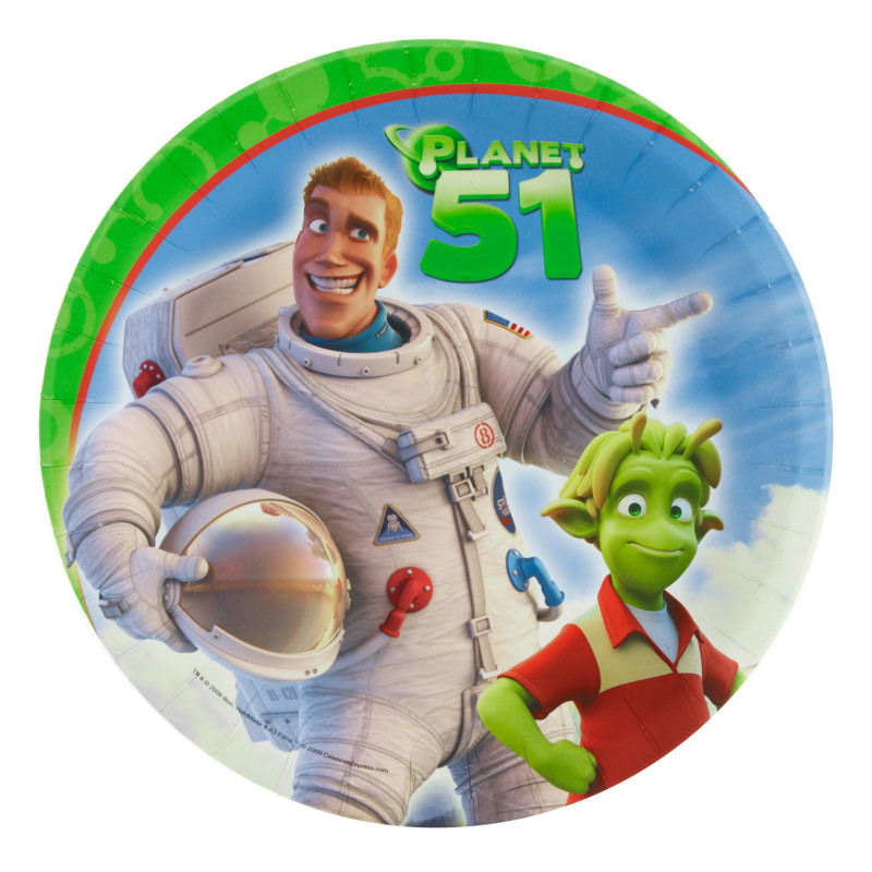 Planet 51 Dinner Plates (8 count)