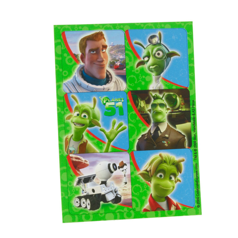 Planet 51 Sticker Sheets (4 count)