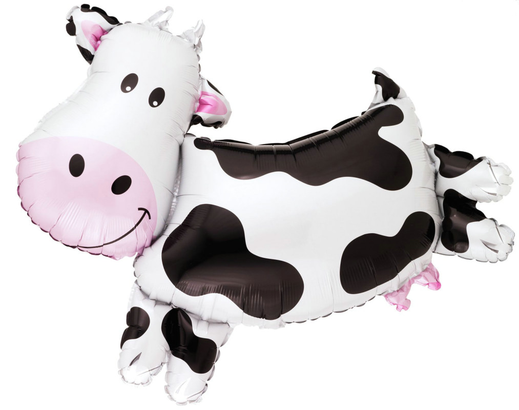 "Cow Shaped 30"" Jumbo Foil Balloon"