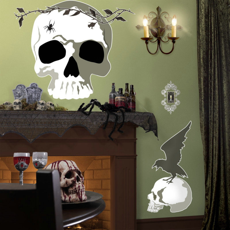 Scary Skull Halloween Giant Wall Decals